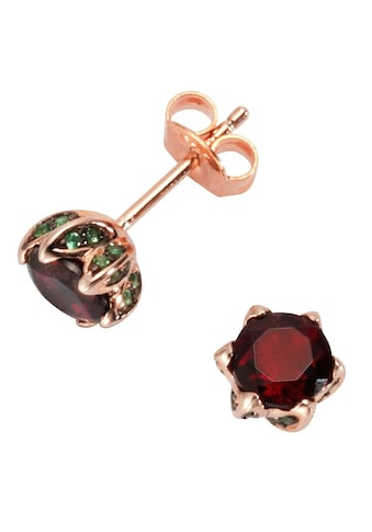 Firetti Paar Ohrstecker »vergoldet, glänzende Optik«, mit Rubine und Zirkonia kaufen