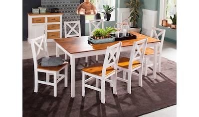 Home affaire Essgruppe »Marta«, (Set, 7 tlg.), mit großem Tisch kaufen
