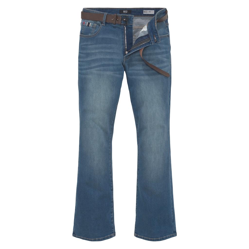H.I.S Bootcut-Jeans »BOOTH«, Nachhaltige, wassersparende Produktion durch OZON WASH