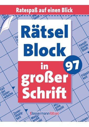 Buch »Rätselblock in großer Schrift 97 (5 Exemplare à 2,99 EUR) / Eberhard Krüger« kaufen