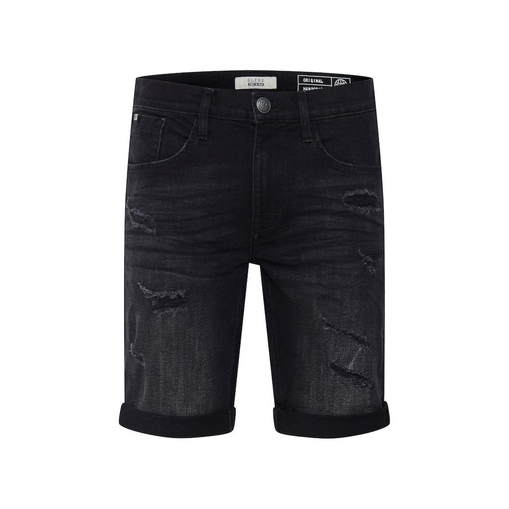 Blend Jeansshorts »Deniz«, kurze Hose mit Destroyed-Effekten