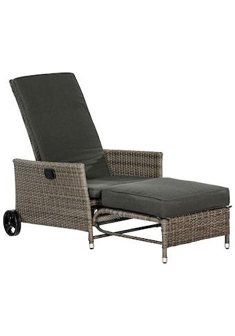 MERXX Gartensessel »Komfort Deckchair«, Stahl/Kunststoff, inkl. Auflagen kaufen