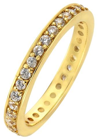Firetti Silberring »Memoire, edel, vergoldet, Glanzoptik, massiv«, mit Zirkonia kaufen