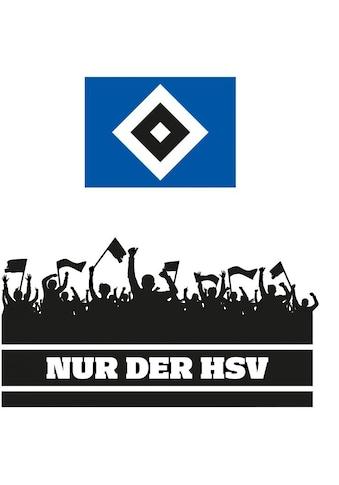 Wall-Art Wandtattoo »Nur der HSV Fans und Logo« kaufen