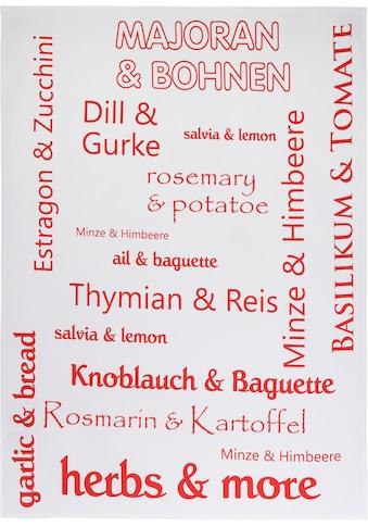 """stuco Geschirrtuch """"Herbs&More"""" (Set, 3 - tlg.) kaufen"""