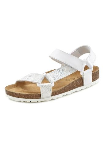 LASCANA Sandale, mit Korkfußbett und Klettverschluss kaufen