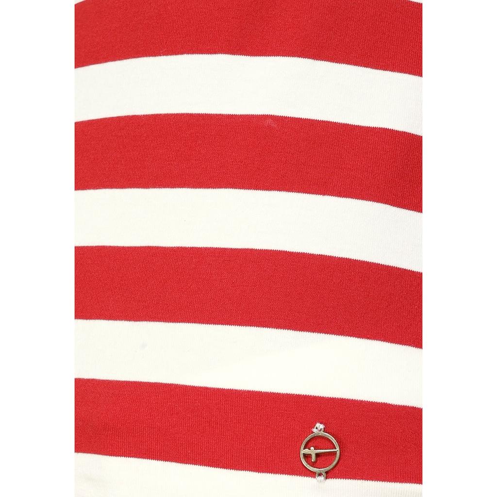 Tamaris Langarmshirt, mit Schleifendetail am Rücken