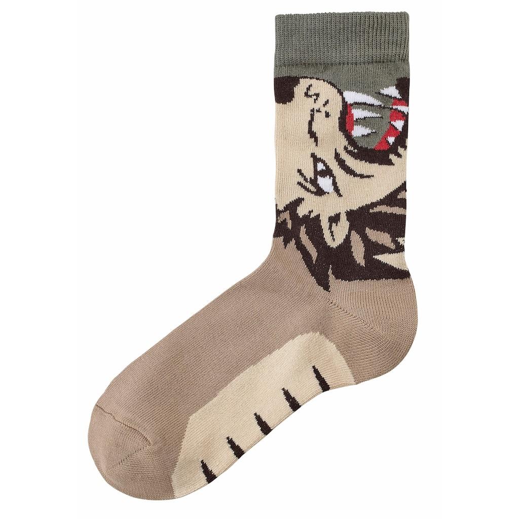 Socken, (5 Paar), mit Tiermotiven