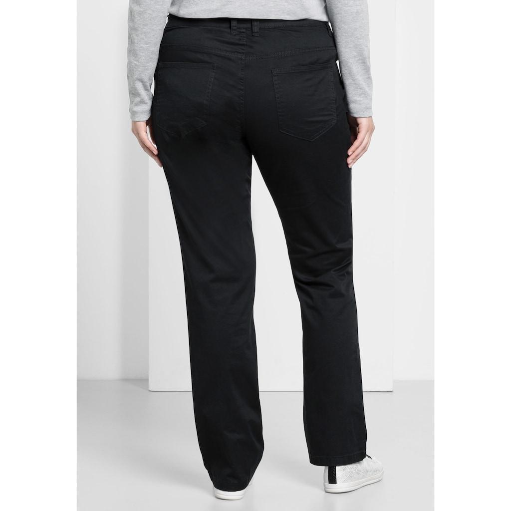 Sheego Stretch-Hose, elastische Twill-Qualität