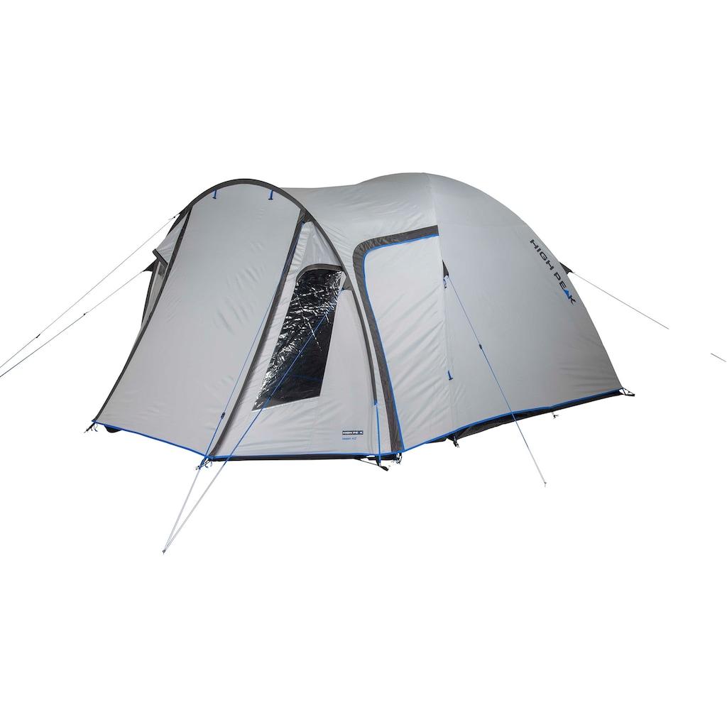 High Peak Kuppelzelt »Zelt Tessin 5.0«, 4 Personen, (mit Transporttasche)