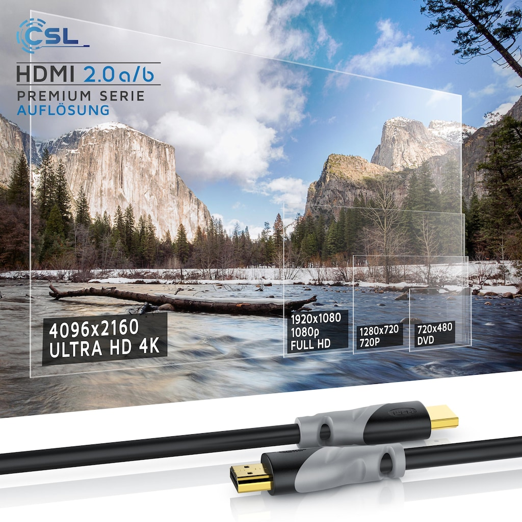 CSL 4K HDMI 2.0b Kabel 3-fach geschirmt