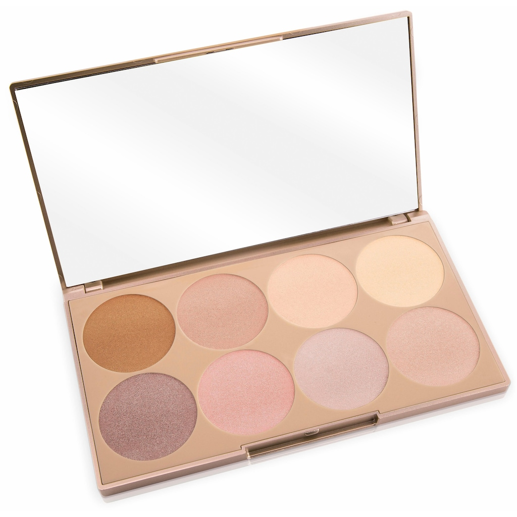 Luvia Cosmetics Highlighter-Palette »Prime Glow - Essential Contouring Shades Vol. 1«, (8 tlg.), 8 Farben