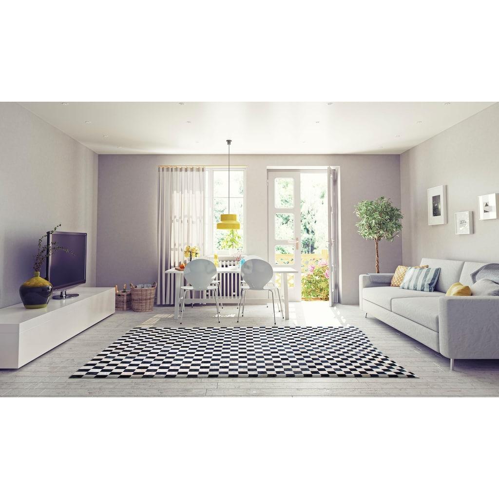 Bruno Banani Lederteppich »Beron«, rechteckig, 8 mm Höhe, echt Leder, Wohnzimmer