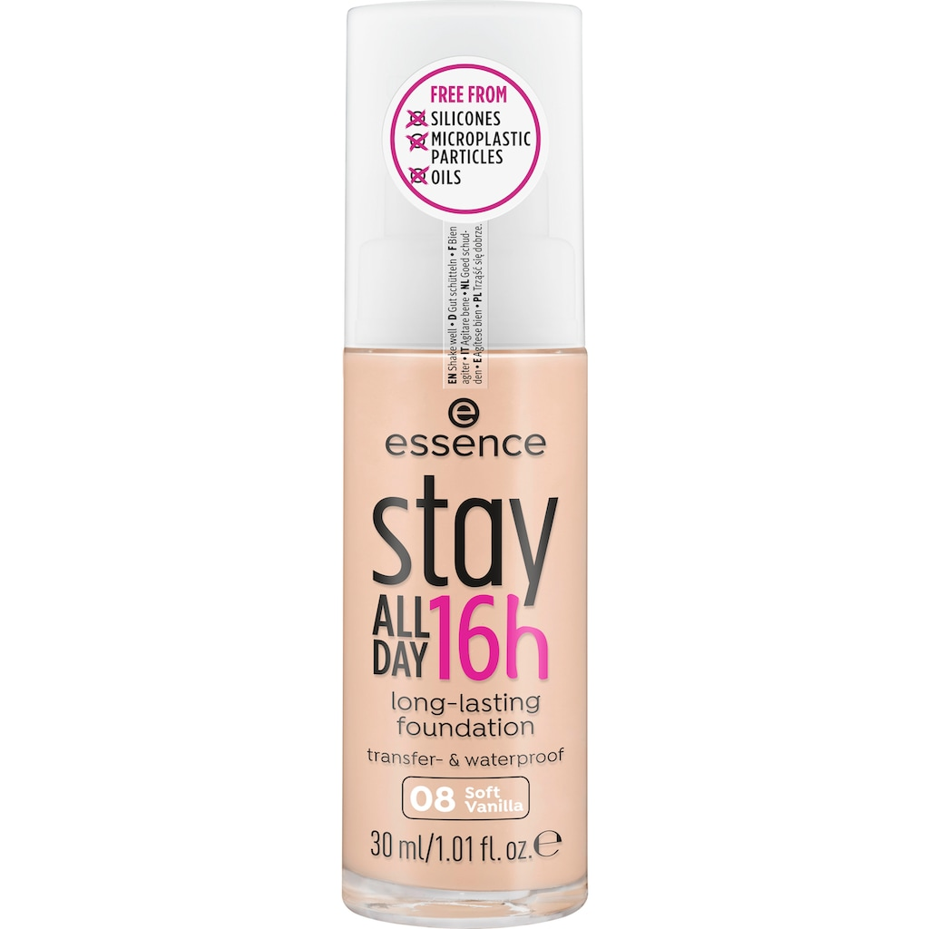 Essence Foundation »stay ALL DAY 16h long-lasting«, (Set, 3 tlg.)