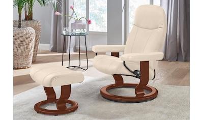 Stressless® Relaxsessel »Garda«, mit Hocker, mit Classic Base, Größe L, Gestell Braun kaufen