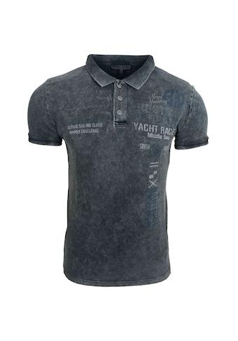 Rusty Neal Poloshirt mit coolem Frontprint kaufen