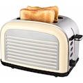 Team Kalorik Toaster »TKG TO 2500«, 2 kurze Schlitze, für 2 Scheiben, 1050 W