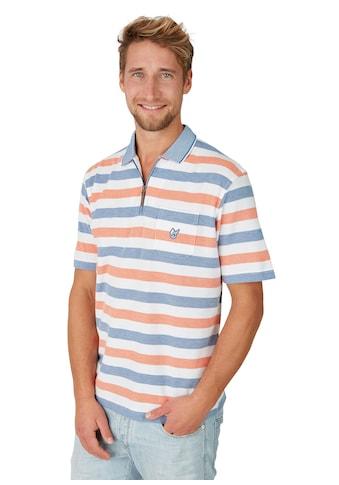 Hajo Strukturiertes Poloshirt mit Ringelmuster kaufen