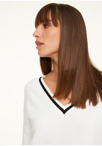 Comma V-Ausschnitt-Pullover, Feinstrick kaufen