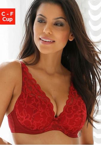 LASCANA Schalen-BH, in High-Apex-Schnitt und mit schöner Spitze kaufen