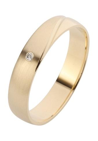 Firetti Trauring mit Gravur »glanz, längs gebürstet, Diamantschnitt, in mehreren... kaufen