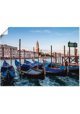 Artland Wandbild »Venedig Canal Grande mit Gondeln«, Boote & Schiffe, (1 St.), in... kaufen