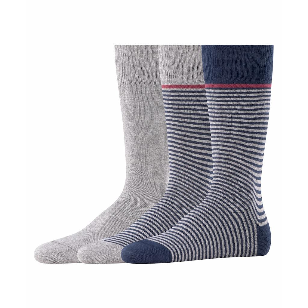 Esprit Socken »Stripe 3-Pack«, (3 Paar), aus Baumwolle