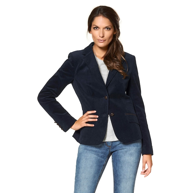 Aniston CASUAL Jackenblazer mit Lederimitat-Einfassungen und Ärmelpatches