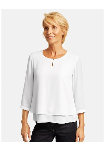 GERRY WEBER Klassische Bluse »3/4 Arm Bluse mit Überwurfeffekt« kaufen