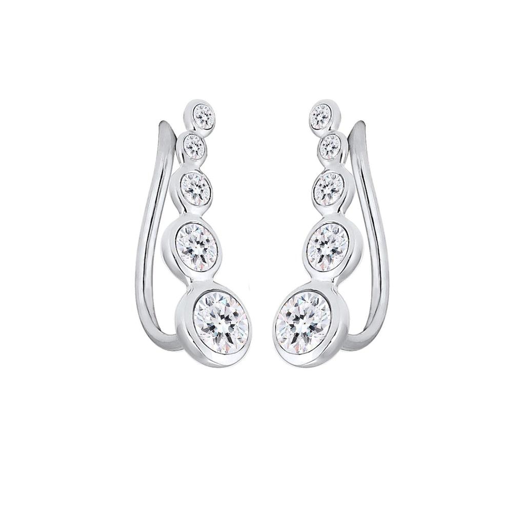 Elli Paar Ohrstecker »Ohrklemme Ear Cuffs mit Kristalle«