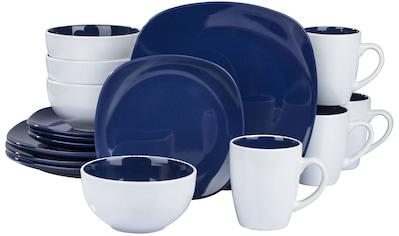 """Retsch Arzberg Kombiservice """"Nova Square blue"""" (16 - tlg.), Steinzeug kaufen"""