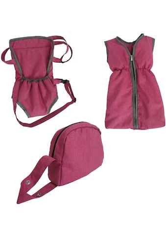 Knorrtoys® Puppen Schlafsack »Puppenzubehörset - berry«, mit Puppenbauchtrage und... kaufen