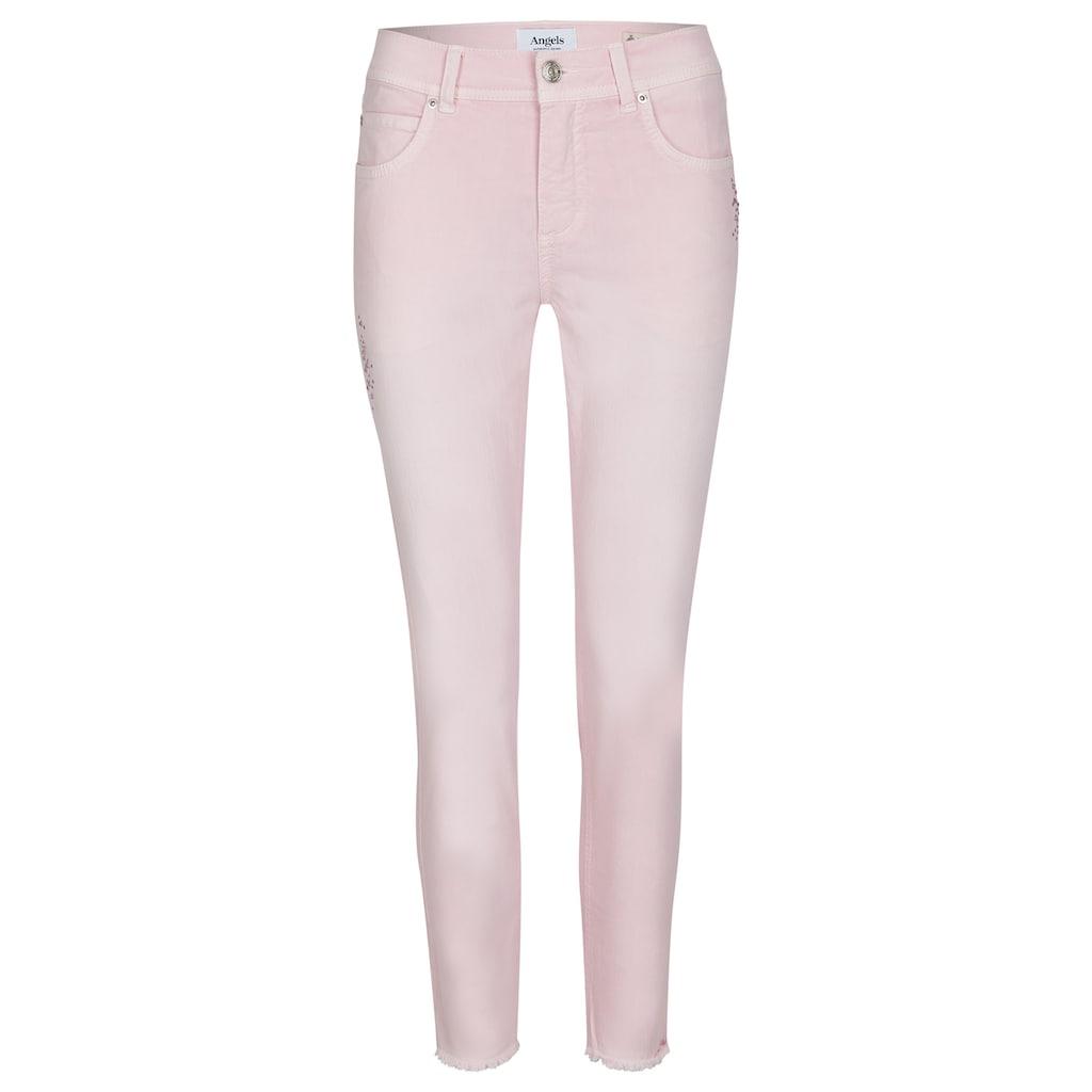 ANGELS Ankle-Jeans, 'Ornella Glamour' mit Schmucksteinen