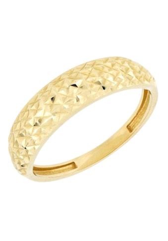 Firetti Goldring »mit toller Oberfläche, glänzend, Ringkopf spiegeldiamantiert« kaufen