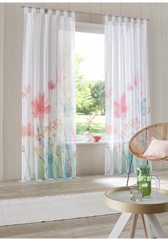 Home affaire Gardine »Feenza«, transparent, einseitig bedruckt, Voile kaufen