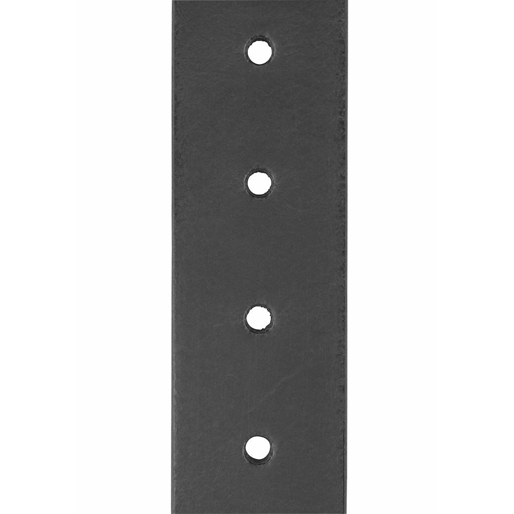 MUSTANG Ledergürtel, mit Mustang-Logo Schlaufe