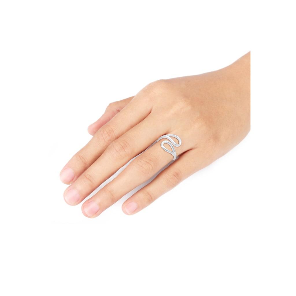 Elli Fingerring »Tropfen Look Offen Verstellbar 925er Silber«