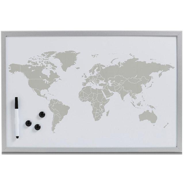 Zeller Present Magnettafel »World«, Memoboard, Motiv Weltkarte