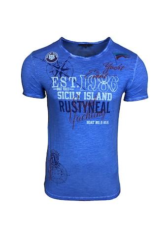 Rusty Neal T-Shirt mit großem Front-Print kaufen