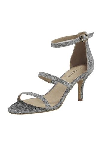 Sandalette mit Glanzeffekt kaufen