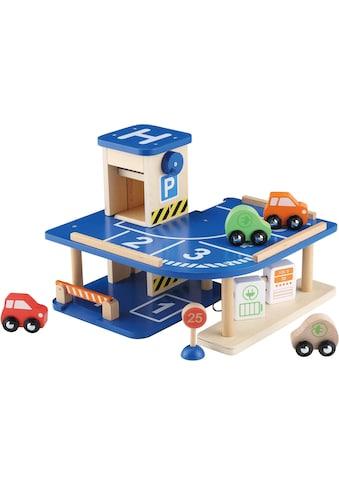 EverEarth® Spiel-Parkgarage »Parkgarage«, mit manuellem Aufzug, FSC®-Holz aus... kaufen