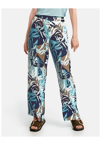 GERRY WEBER Hose Freizeit lang »Hose mit floralem Muster« kaufen