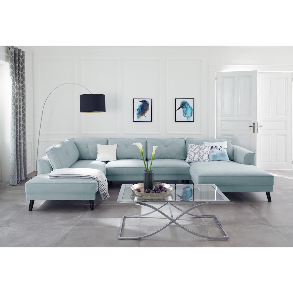 Guido Maria Kretschmer Home&Living Couchtisch »Ballum«, mit edlem Metallgestell und Glasplatte, Breite 120 cm