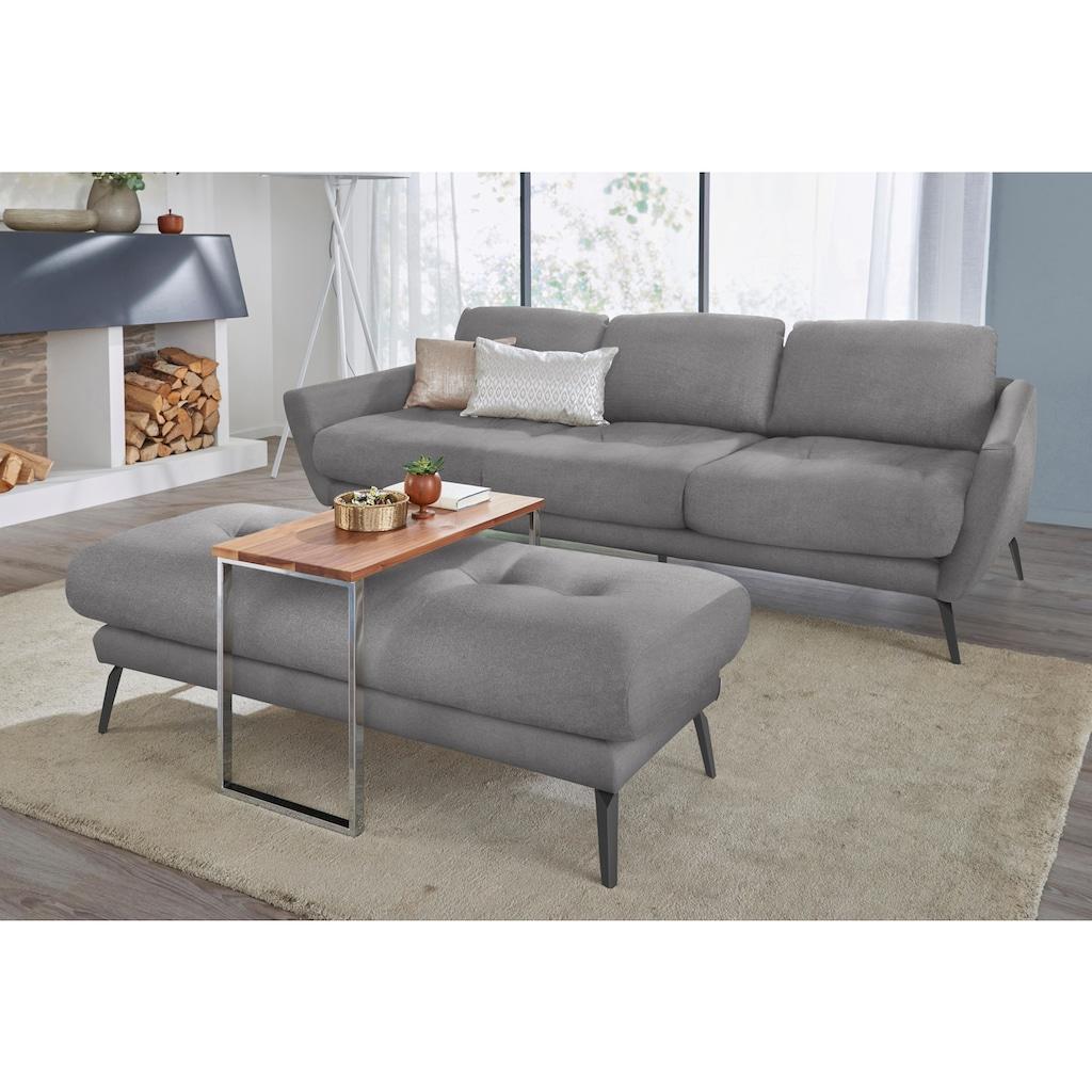 W.SCHILLIG Hocker »softy«, mit dekorativer Heftung im Sitz, Füße schwarz pulverbeschichtet