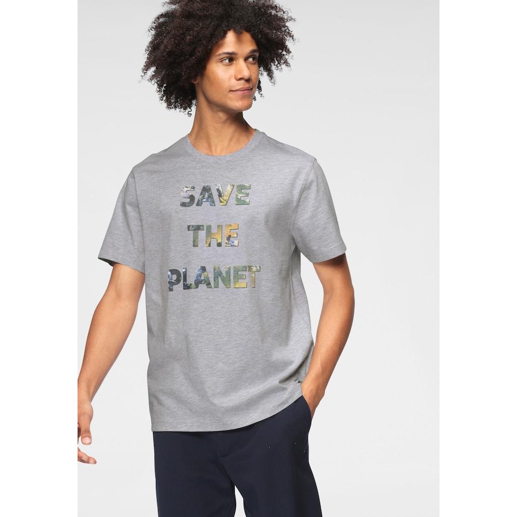 OTTO products T-Shirt, SAVE THE PLANET- Druck/aus GOTS zertifizierter Bio-Baumwolle