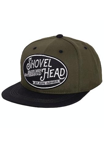 KingKerosin Flat Cap »Shovel Head«, mit Print auf der Schirmunterseite kaufen
