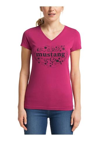 MUSTANG Kurzarmshirt »Alexia V Print«, T-Shirt kaufen