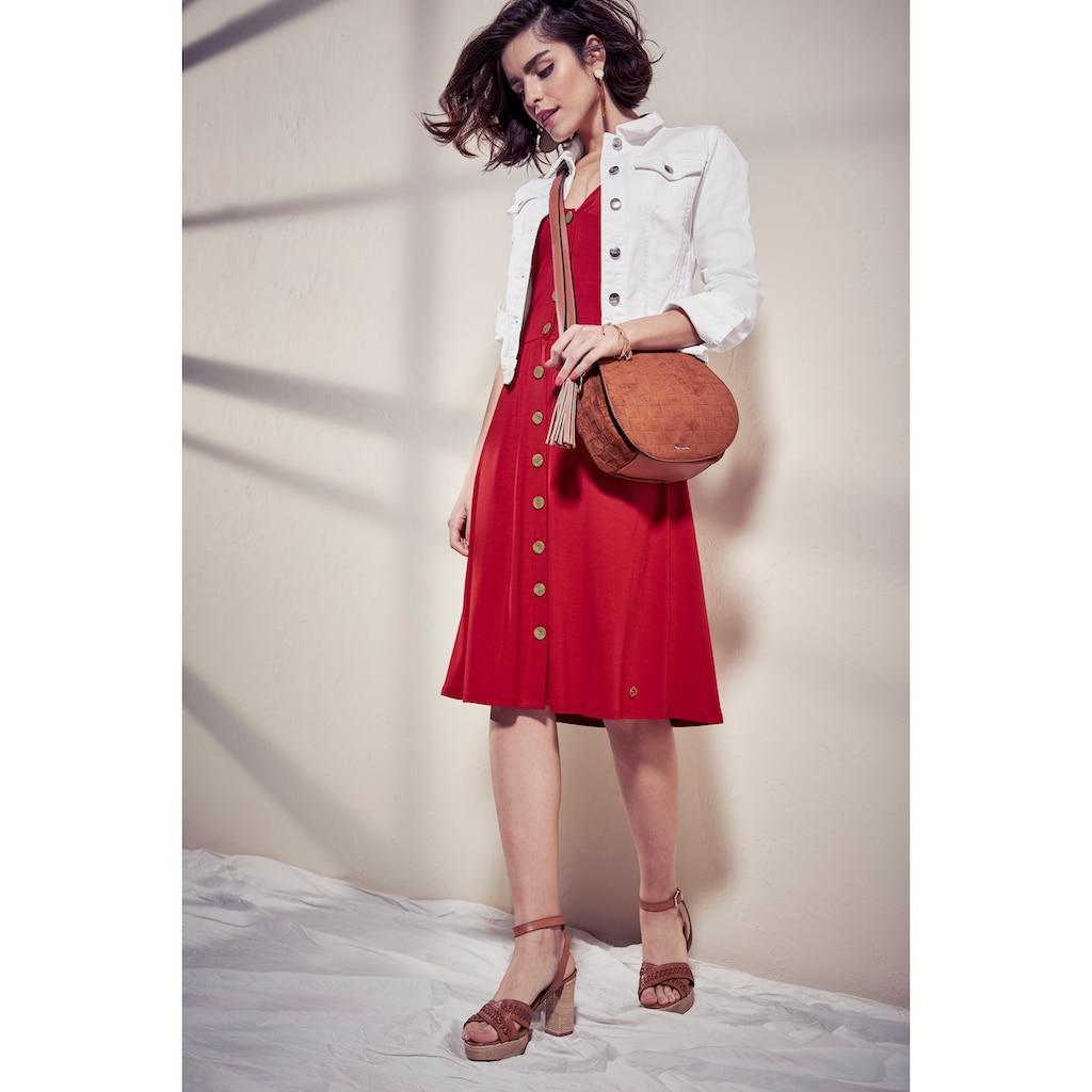 Tamaris Jerseykleid, mit Knöpfen