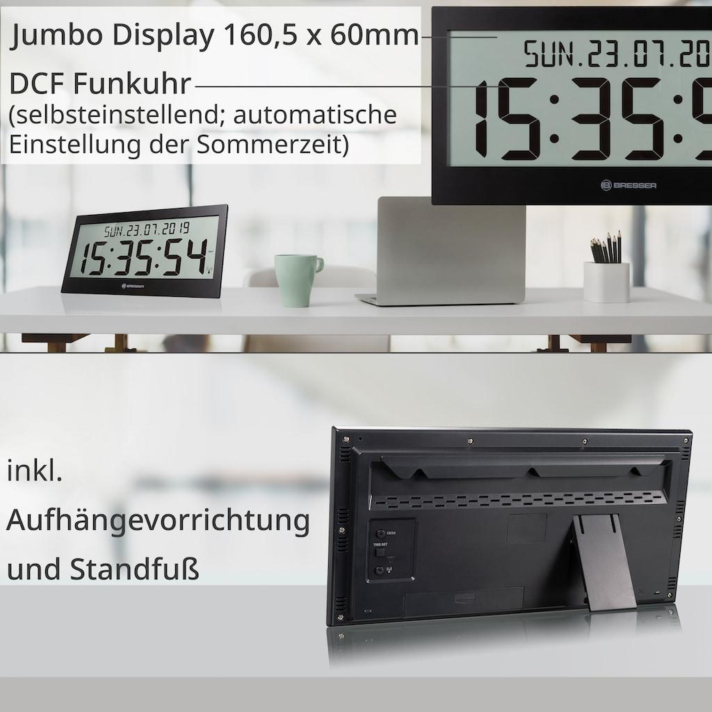 BRESSER Funkwanduhr »LCD Jumbo DCF Funkuhr Wanduhr«