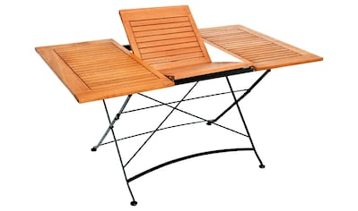 MERXX Gartentisch »Schloßgarten«, Eukalyptus, klappbar, ausziehbar, 150x90 cm, braun kaufen